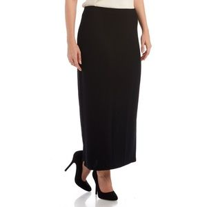 ST. JOHN Evening Ribbed Slit Maxi Skirt